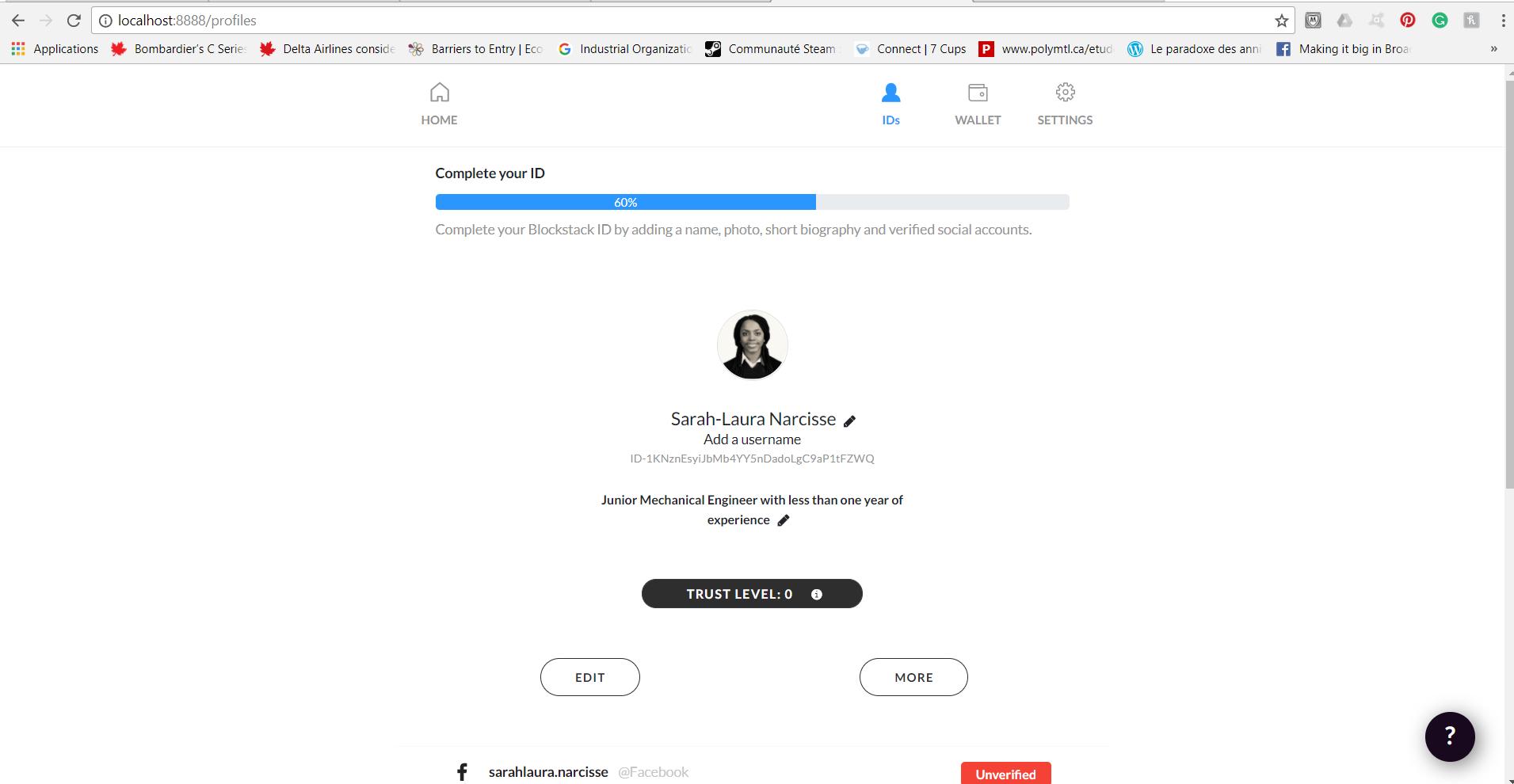 Cannot verify Facebook account - Identity - Blockstack Forum