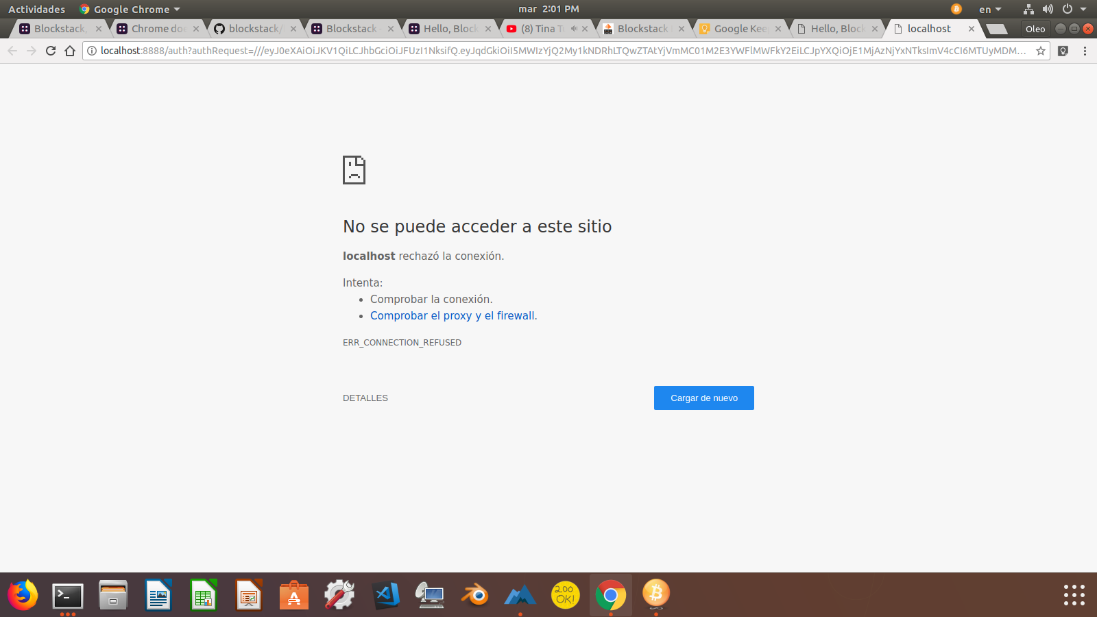 Chrome does not launch to localhost:8888 - Community